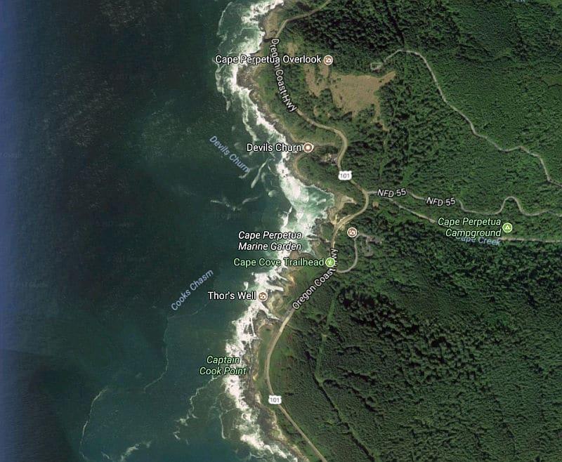 Cape Perpetua Map