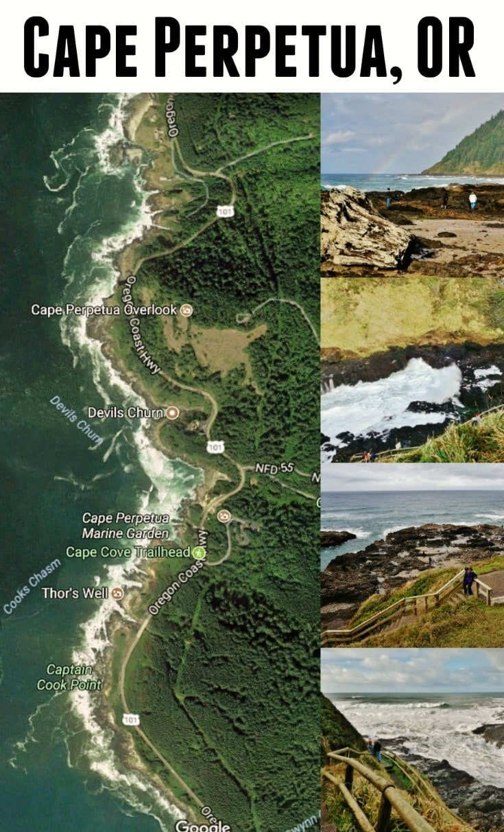 Cape Perpetua Oregon - Home of the Devils Churn, Thor's Well, and the Spouting Horn - http://www.loveyourrv.com/cape-perpetua-oregon-coast-featuring-thors-well/