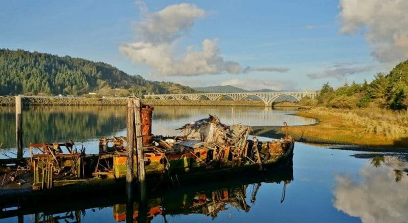 Mary D Hume Steamer on the mouth of the Rogue River Oregon