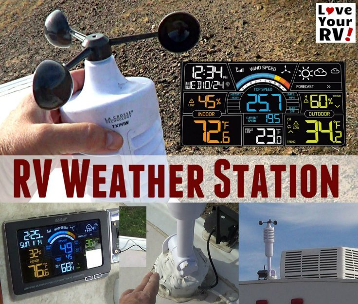 Installed La Crosse Weather Station with Wind Speed on the RV - http://www.loveyourrv.com/installed-la-crosse-weather-station-wind-speed-rv/
