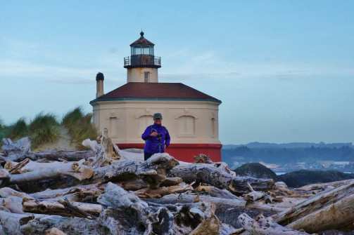 Anne at Coquille River Lighthouse