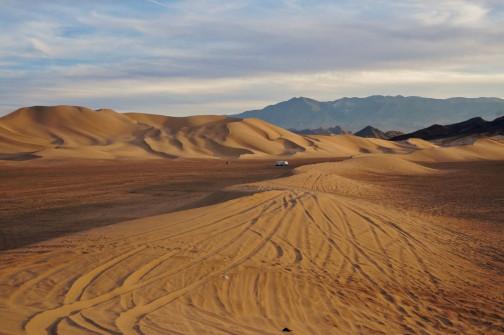 Dumont Dunes lone camper