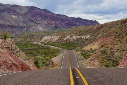 Highway through Big Bend Ranch SP