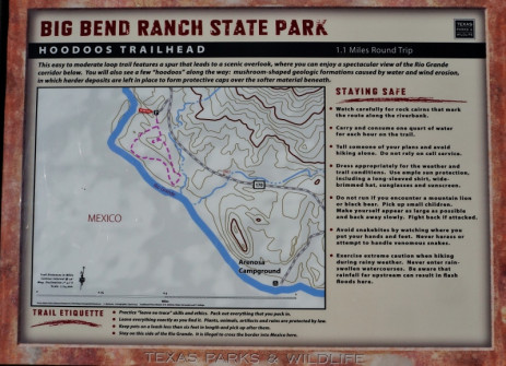 Sign at Hoodoo Trail