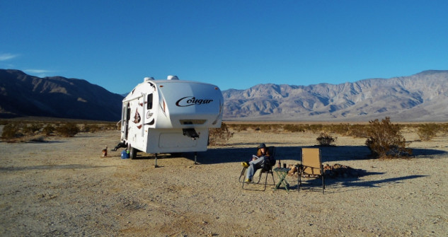 Boon-docking in Anza-Borrego State Park, California