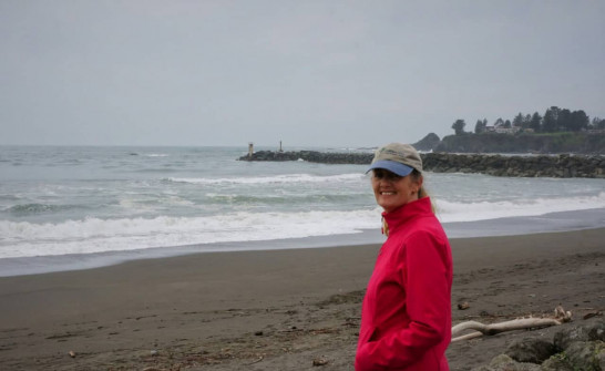 Anne on the beach in Brookings Oregon