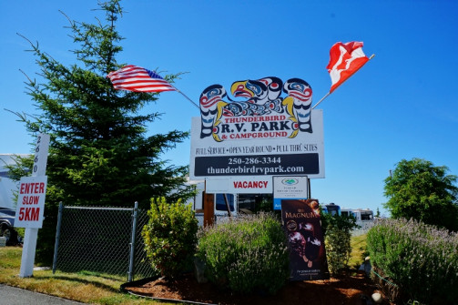 Thunderbird RV Park Sign