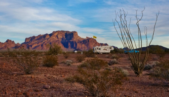 Camping near the Kofa mountains AZ