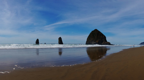 Cannon Beach on a beautiful spring day