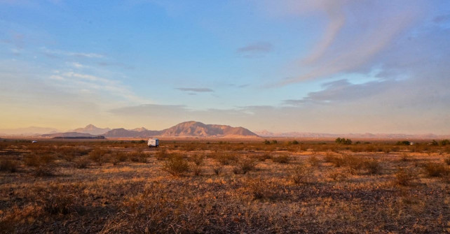 Looking out from campsite toward I10