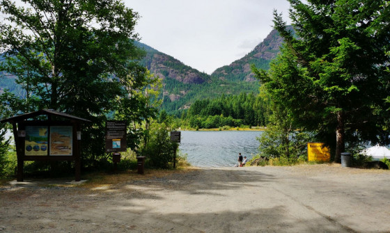 Buttle Lake Boat Ramp