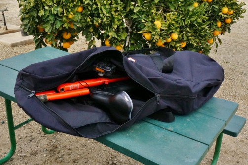 Strida Lt folding bike in carry bag