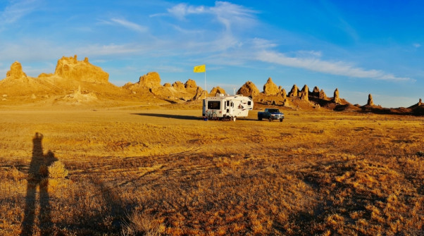 Late aftrenoon at the Trona Pinnacles