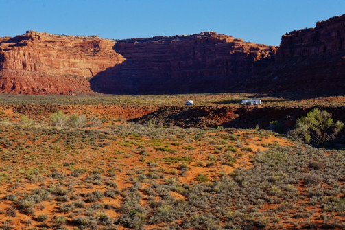 Valley of the Gods boondocking with friends