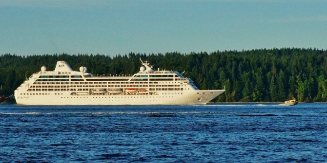 Cruise ship in Discovery Passage