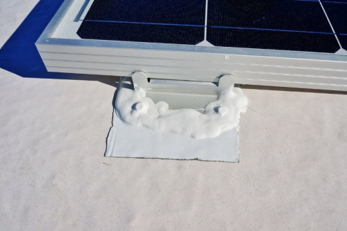 Solar panel mount sealed