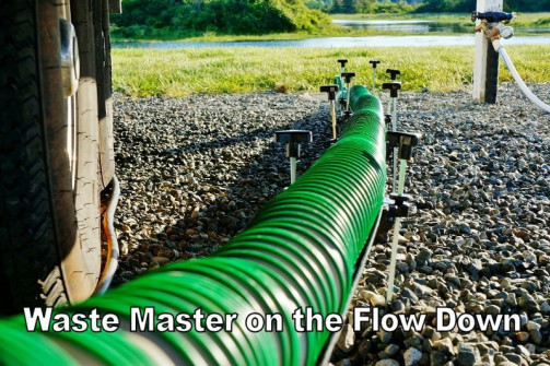Hose view on the Lippert Flow Down ramp