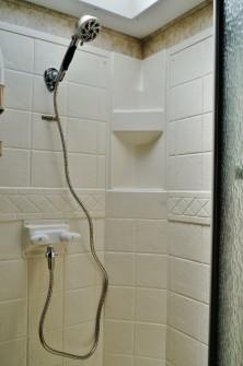 Oxygenics Fury RV shower head installed