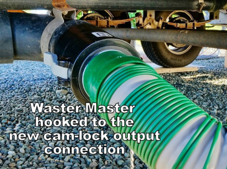 Waster Master hose hooked up to RV