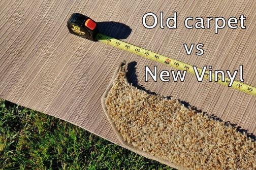 Old Carpet vs New Luxury Woven Vinyl