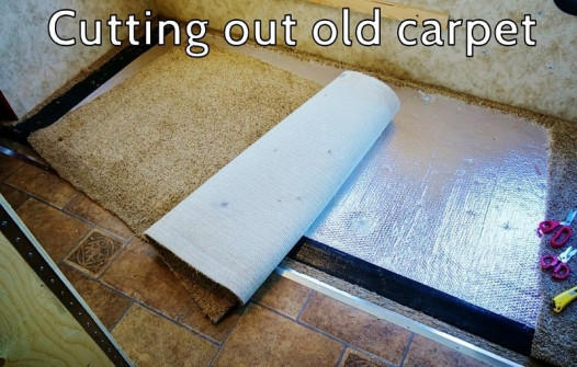 Removing the dirty OEM carpeting