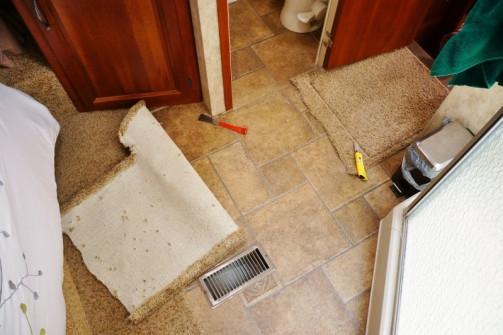 Bedroom area floor
