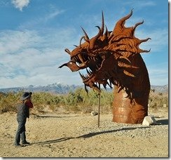Borrego Springs Serpent Metal Sculpture
