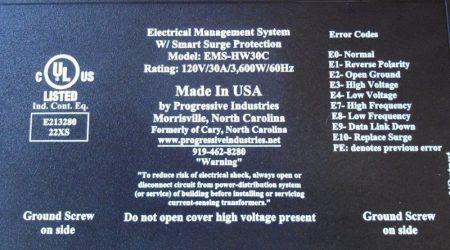 Progressive Industries Model EMS-HW30C – RV Surge Protector