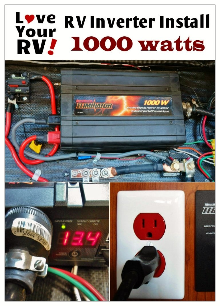 Simple way to install a 1000 watt inverter into your RV. RV inverter installation explained - Love Your RV! blog - https://www.loveyourrv.com/ #RVing #RVmod