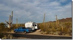 Camped at Gilbert Rey Campground, Tucson Mountain Park