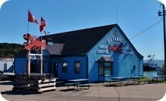 Seafood joint in Alma, New Brunswick