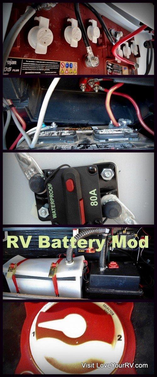 RV Battery Addon Mod by Love Your RV! - https://www.loveyourrv.com/ #RV #Mods