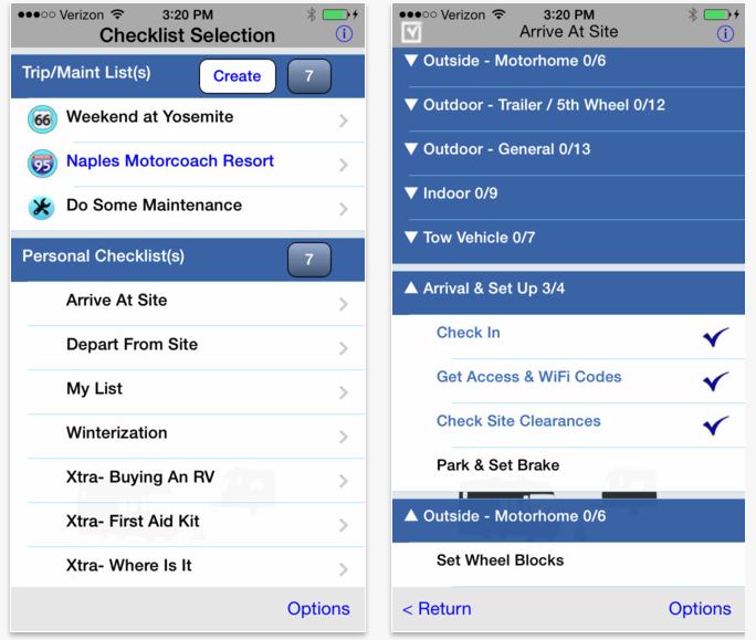 RV Checklist on the App Store on iTunes