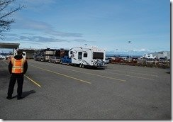 MV Coho ferry parking in Port Angeles