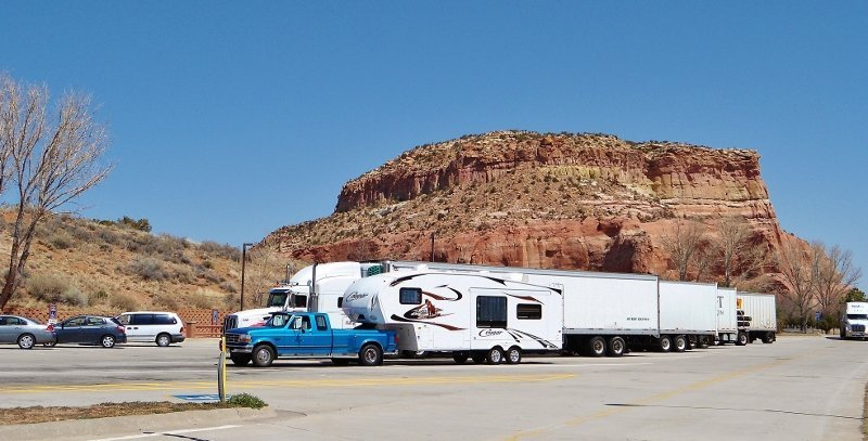 Rest stop on I40 Arizona