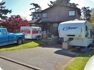 Our driveway campsite