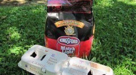 Egg Carton Charcoal Briquette Fire Starter Trick