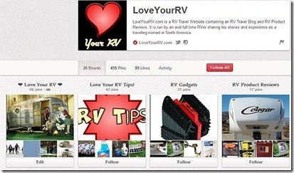 Love Your RV on Pinterest