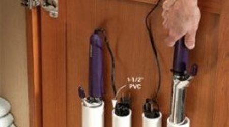 PVC Pipe Holders for Hair Appliances