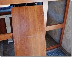 Cubby Hole For Shoes Mod - Panel Off