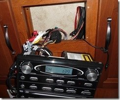 Jensen Stereo Pulled Out