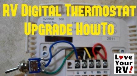 Hunter 42999B Digital RV Thermostat Install