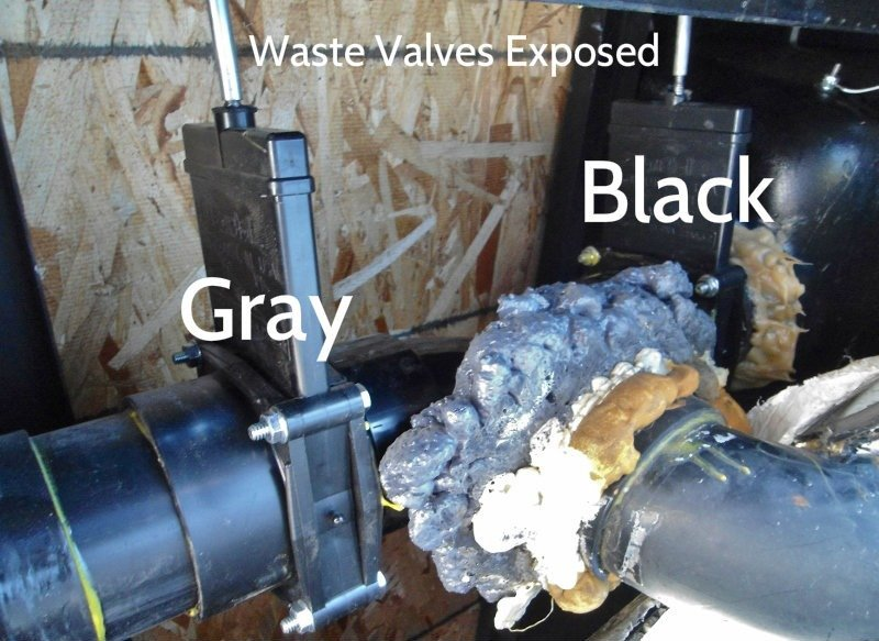 Tank Waste Valves exposed rv waste tank valve replacement in keystone cougar 276rls trailer