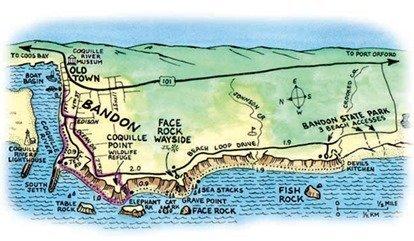 Bandon Map