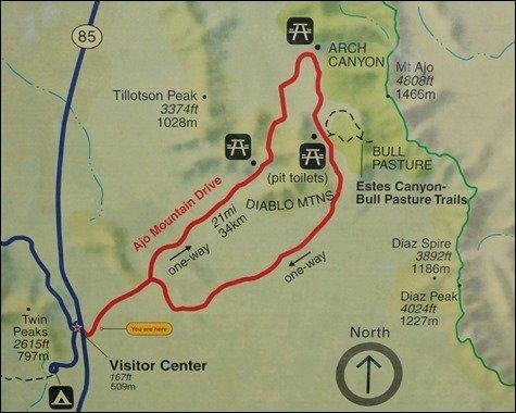 Ajo Mountain Drive Map