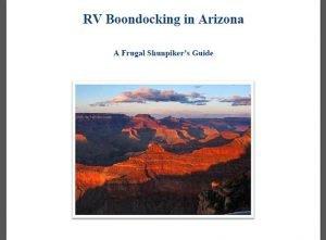 RV Boondocking in Arizona Feature Photo