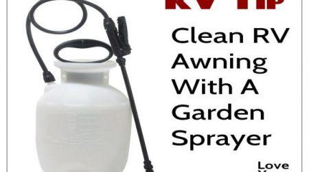 RV Awning Washing Tip