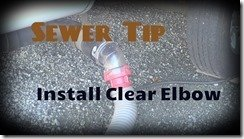 Clear Sewer Elbow Tip