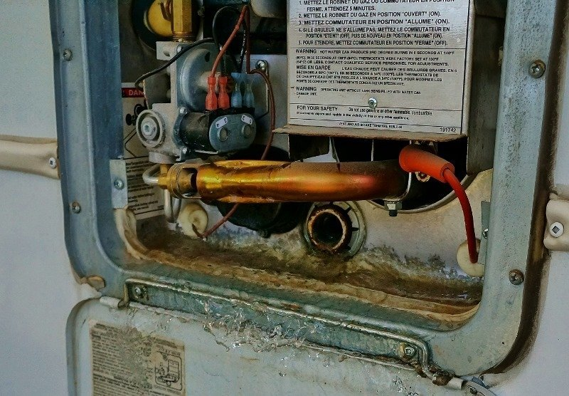 the case of the singing rv water heater - love your rv!