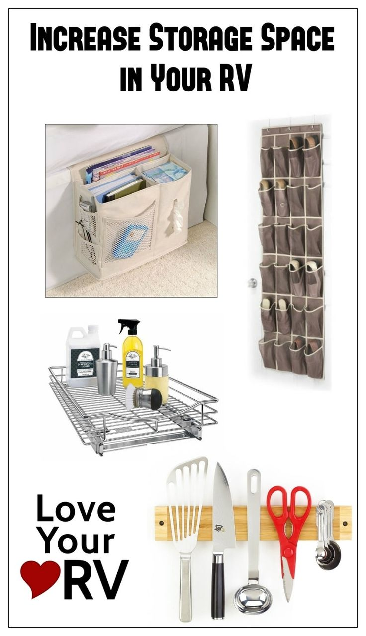 Ingenious ideas to Increase storage space in your RV from the Love Your RV! blog - https://www.loveyourrv.com/ #RV #storage